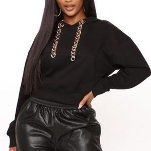 Fashion Nova Chain Hoodie Size 1x EUC